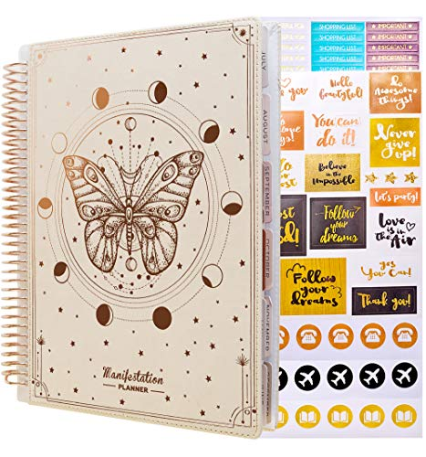 Law of Attraction Planner - Undated Deluxe Weekly & Monthly Life Planner to Achieve Your Goal. A 12 Month Journey to Increase Productivity, Passion & Happiness -Organizer & Gratitude Journal+Stickers
