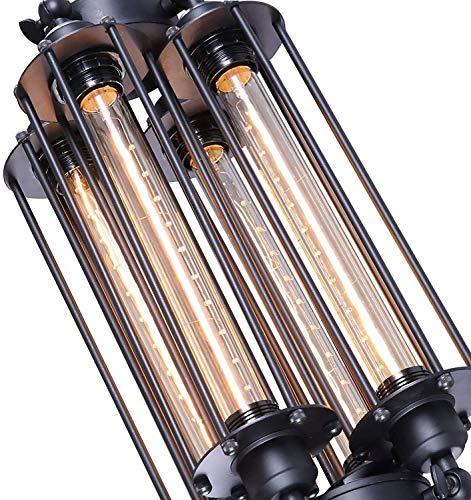 Industrial Vintage Ceiling Pendant Light - 4 Lights, Steampunk (E26/E27 Edison T30-300 Light Source Not Included) Hanging Lamp Retro Farmhouse Chandelier for Bar Restaurant Garage Barn Lighting Fixtur steampunk buy now online
