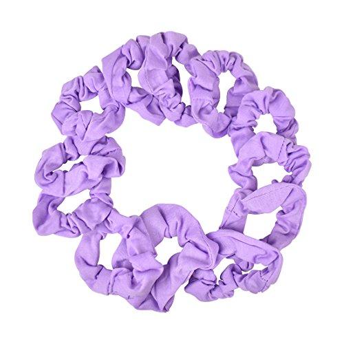 12 Pack Small Scrunchies Cotton Hair Scrunchy - Lavender