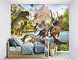 Walltastic, Mural, la Tierra de los Dinosaurios, Multicolor, 243 cm x 304 cm
