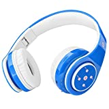 Kids Headphones Bluetooth Wireless 85db Volume Limited Childrens Headset, up to 6-8 Hours