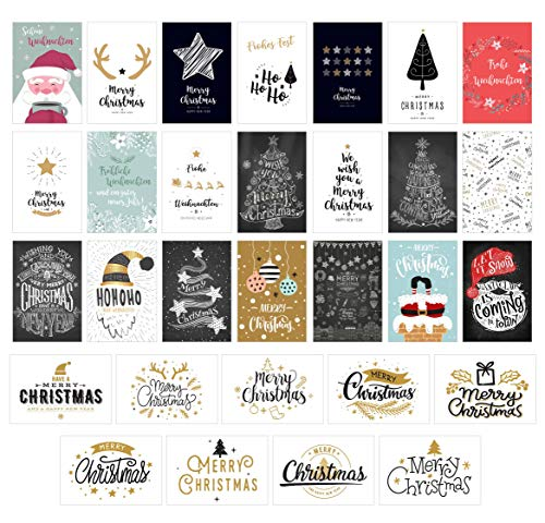 Edition Seidel Set 30 Weihnachtspostkarten Weihnachten Karten Postkarten Weihnachtskarten (20670)