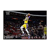 WALKKING WAYS Wall Canvas Art Paintings for Wall Decor?Lakers Lebron James Supper Slam Dunk Basketball Pictures Wall Decoration Prints and Posters (Not Framed,50x70 cm)