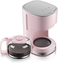 Bdesign Coffee Maker, Filter Coffee Machine, Anti-Drip Coffee Brewer Teapot Tea Coffee Dual-use Automatic Insulation Permanent Reusable Filter (Color : Pink)