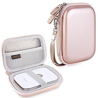 Canboc Shockproof Carrying Case Storage Travel Bag for HP Sprocket Portable Photo Printer / Polaroid ZIP Mobile Printer Protective Pouch Box,Rose Gold