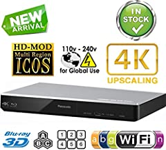 $259 » PANASONIC DMP-BDT270 2K/4K Multi Region All System Blu Ray Disc DVD Player - PAL/NTSC - 2D/3D - Wi-Fi - 100~240V 50/60Hz World-Wide Use & 6 Feet HDMI Cable Included