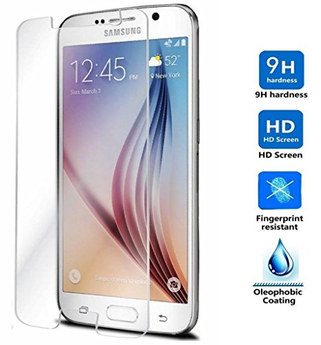 REY Protector de Pantalla para Samsung Galaxy S6 Cristal Vidrio Templado Premium
