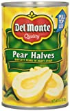 Del Monte Canned Bartlett Pear Halves in Heavy Syrup, 15.25 Ounce
