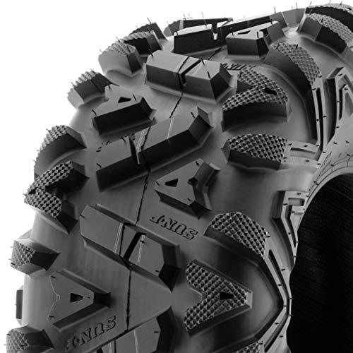 SunF A033 Power.I 25x10-12 ATV UTV Tire All-Terrain Off-Road, 6 Ply Tubeless