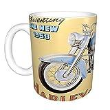 Taza de café con diseño de Harley Davidson de 325 ml, ideal para mujeres y hombres, divertidas ideas de cumpleaños para ella, él, esposa, mamá, hija, hermana.
