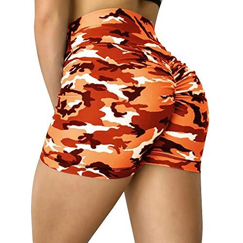 Hoomall Legging de Sport Femme Pantalon de Yoga Short Gym Taille Haute Capri Course à Pied Court Pantalon Plage Legging Court