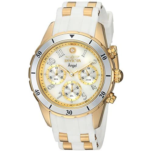 Invicta Ladies Analog Quartz Watch with Silicone Stainless Steel Strap 24901