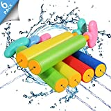 Biulotter 6 Pack Foam Water Blaster Set Pool Toys Water Guns for Kids Water Gun Blaster Shooter Swimming Pool Outdoor Beach Play Game Toy
