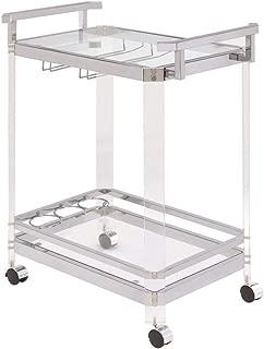 cb2 acrylic bar cart