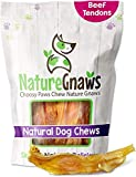 Nature Gnaws Tendons for Dogs - Premium Natural Beef Sticks - Simple Single Ingredient Tasty Dog Chew Treats - Rawhide Free - 4-5 Inch (5 Count)