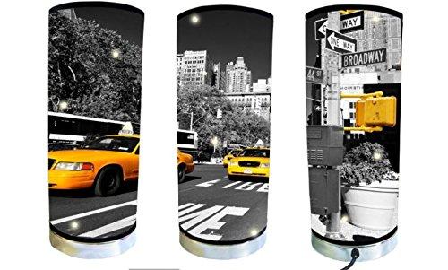 Lámpara de tubo, diseño de taxis de Nueva York