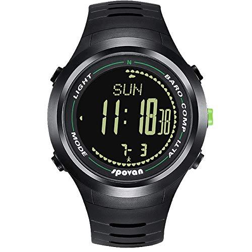 WTianang Miran el Reloj del Reloj del Alpinismo al Aire Libre de los Hombres del Reloj Multifuncional del Alpinismo Impermeable Paso Running Inteligentes (Color : C)