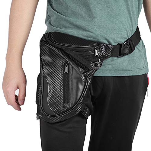 Fydun - Riñonera impermeable para hombre, para moto, bolsa