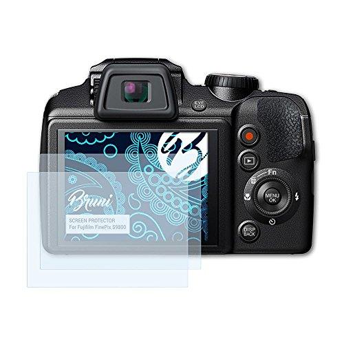 Bruni Schutzfolie kompatibel mit Fujifilm FinePix S9800 Folie, glasklare Displayschutzfolie (2X)