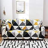 Juego de funda elástica para sofá de sala de estar y toallas, fundas de sofá antideslizantes para mascotas, funda de sofá Strech A19 de 3 plazas