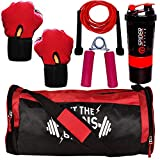 5 O' CLOCK SPORTS Polyester Combo of Let The Gains Begin Gym Bag