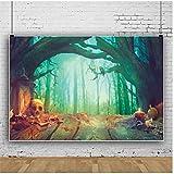 Fondo de vinilo para Halloween y otoño para fotografía luz bokeh árbol tronco cráneo piso de madera escena familia Shoot foto fondo vinilo 1.5 x 2.1 m