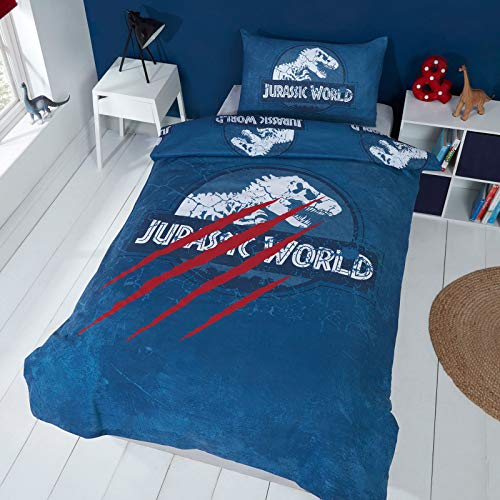 Jurassic World Claws UK Single/US Twin Duvet Cover and Pillowcase Set