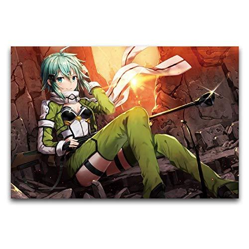 Sword Art Online Sao, Asada Shino, póster de animación, pintura en lienzo, decoración de pared, cuadros de dormitorio 40 x 60 cm