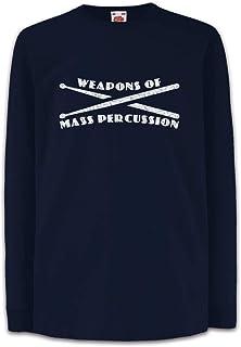 Urban Backwoods Weapons of Mass Percussion Camisetas de Manga Larga T-Shirt para Niños Niñas