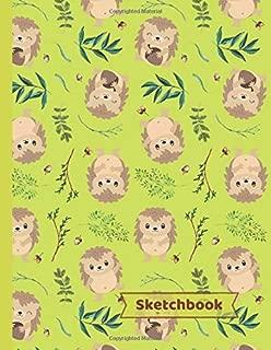 Hedgehogs Sketchbook: Hedgehog Gifts: Blank Paper Sketch Book: Large Notebook for Doodling, Drawing or Sketching ~ 8.5