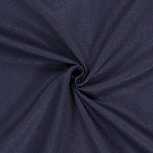 Baumwollköper Uni – marineblau — Meterware ab 0,5m — STANDARD 100 by OEKO-TEX® Produktklasse II — zum Nähen von Kissen/Tagesdecken, Gardinen & Taschen