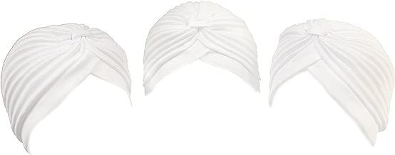 Turbans (Set Of 3) / White / Full Size