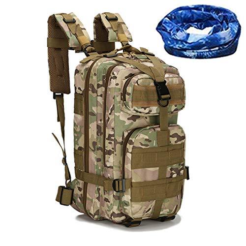 haoYK Tactical Pack Militär-Rucksack Outdoor Sport Wandern Trekking Camping Reisen Rucksack Bergsteigen Klettern Rucksack Camouflage Camo Rucksack 30L CP Multicam