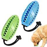 Firtink 2Pcs Ball Zahnbürsten Leckerli-Spender Hund Zahnbürsten Stick Hundespielzeug Ball Hundeball