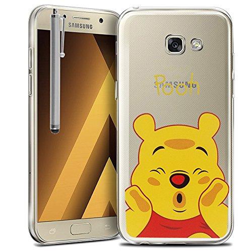 HCN PHONE Samsung Galaxy A5(2017) 13,2cm A520F Custodia Cover Silicone TPU Trasparente Ultra-fine Disegno Animato Pretty per Samsung Galaxy A5(2017) 13,2cm A520F–Winnie The Pooh + Pennino