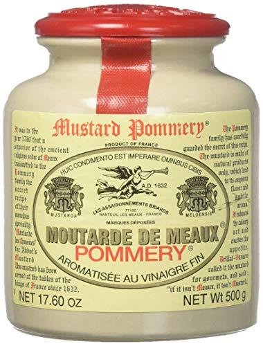 Classic 500 g Pommery Senf Meaux Moutarde in Töpferei, 3 Stück – 6 Stück