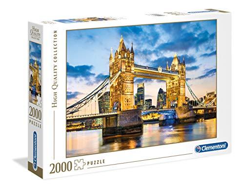 Clementoni- Puzzle 2000 Piezas Tower Bridge at Dusk (32563.4)