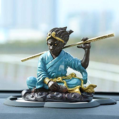 GYJZZW Decoraci Escultura Estatua Artesan Domineering Son Goku Statue Animals Monkey King Arts Sculpture Creative Resin Crafts Car TV Perfume Interior Display Decoration R3007, Multi-Colored