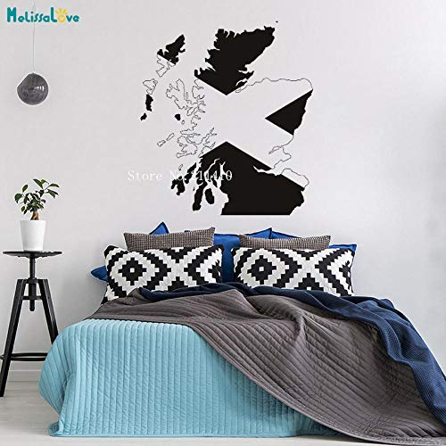 cooldeerydm Schotland kaart Muur Stickers Schotse Vlag Decals Home Decor Woonkamer Slaapkamer Kleuterschool Movable Cool Art Poster
