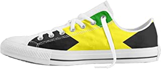 Flag Of Jamaica Unisex Classic Canvas Lace Up Shoes Sneakers For Men & Women