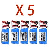 FanCheng PLC 3V 1600mah Battery, Replacement Battery Compatible with Mitsubishi CR17335SE-R Q6BAT Q12H CPU (5 Pack)