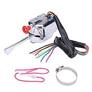 Keenso New 12V Universal Street Hot Rod Chrome Turn Signal Switch For FORD BUICK GM Heavy Duty Vintage Car Truck Street Rod Dune Buggy Sand Rail
