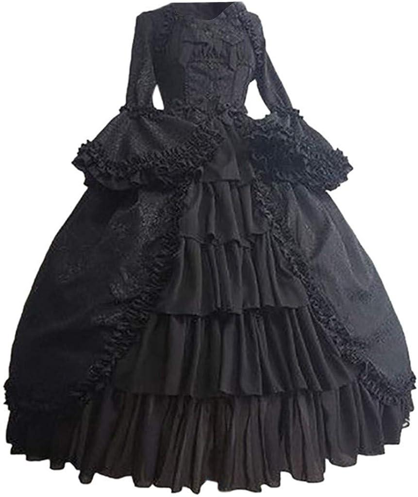 Gothic Dress Forthery Women's Charlotte Mall Slee Poplin Long Cheap SALE Start Victorian