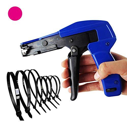 HRRH Cable Especial Tie Gun, Ajustable Durable de Cables de Nylon Lazo Pistola engastado y de Corte Herramientas para la Atadura de Cables de Nylon Anchura 2.2mm para 4.8mm
