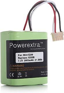 Powerextra ブラーバ 380J 371J バッテリー 7.2V/3000mAh 4449273 iRobot Braava バッテリー Irobot Braava 371j 380 380j Mint Plus 5200 5200c 5200B 対応 掃除機用ニッケル水素充電池