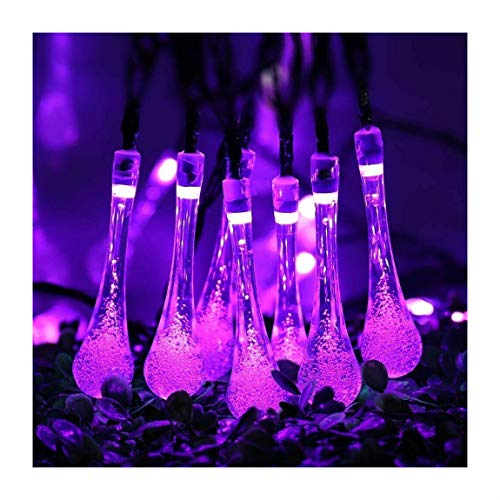 Purple 30 LED Solar String Lights Outdoor Waterproof Garden Path Yard Decor Fairy Lamp | Closset Org