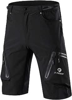 X-TIGER Men's Cycling Hiking Shorts Loose-Fit,MTB Mountain Bike Fishing Climbing Shorts with Zip Pocket