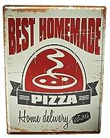 [ZUNYI]ブリキ 看板金属板プラークフードレストラン自家製ピザ壁の装飾、家、パブ、ビール、ガレージ、庭、コーヒー[20x30cm]