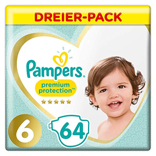 Pampers Premium Protection Windeln, Gr. 6, 64 Windeln