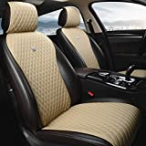 Beige Universal Seat Covers Leather Seat Cushions Luxury Seat Protector 2/3 Covered 11PCS Fit Car/Auto/Truck/SUV/Van (A-Beige) -  Haihong